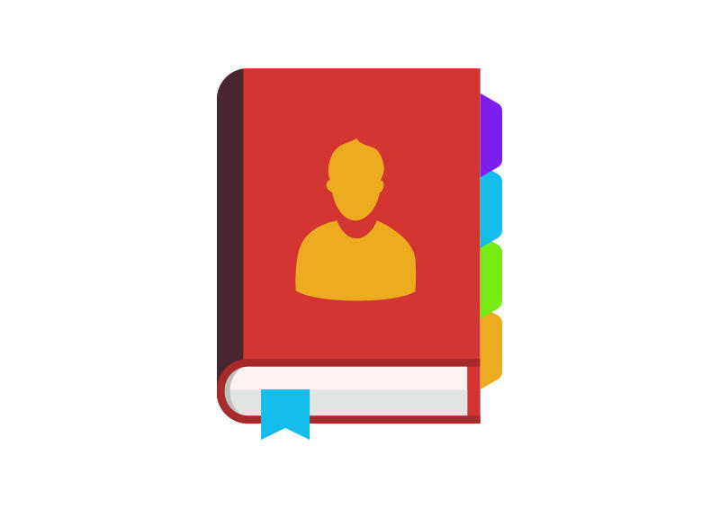 Contact-book-free-flat-vector by superawesomevectors