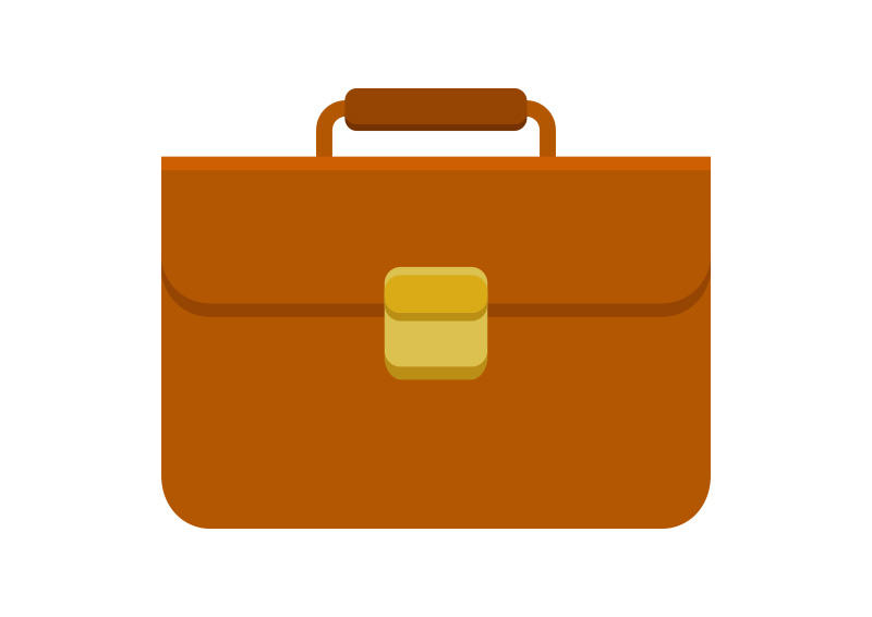 Briefcase-flat-vector by superawesomevectors