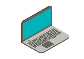 Laptop Isometric Flat Vector Illustration by superawesomevectors