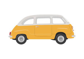 Fiat Multipla 1960 Free Vector by superawesomevectors
