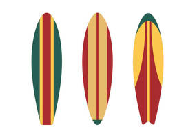 Surfboards Flat Vector by superawesomevectors