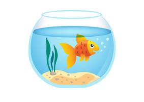 Goldfish Aquarium Free Vector Illustration by superawesomevectors