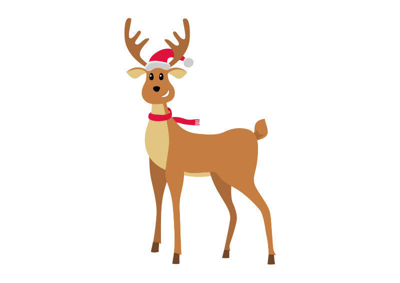 Christmas Reindeer Vector Illustration by superawesomevectors