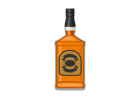 Whisky Bottle Free Vector by superawesomevectors