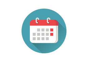 Flat Calendar Icon by superawesomevectors