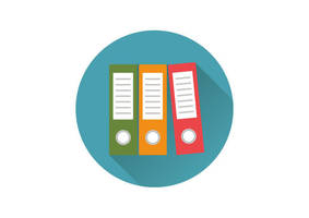 Office Folders Flat Icon by superawesomevectors