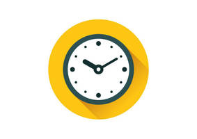 Flat Clock Icon by superawesomevectors