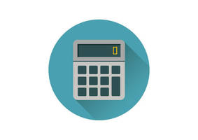 Flat Calculator Vector Icon by superawesomevectors