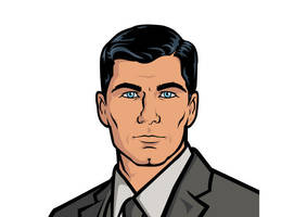 Sterling Archer Vector by superawesomevectors