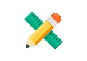 Ruler and Pencil Design Tools Free Vector by superawesomevectors