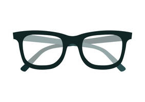 Glasses Free Flat Vector Icon by superawesomevectors