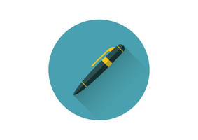 Pen Flat Vector Icon by superawesomevectors