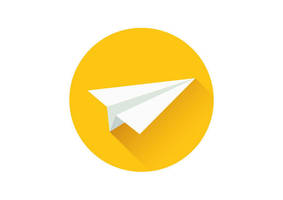 Paper Plane Flat Vector Icon by superawesomevectors