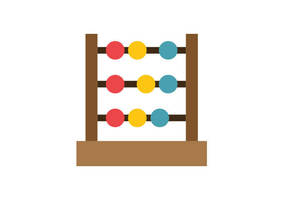 Abacus Free Flat Vector Icon by superawesomevectors