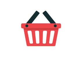 Shopping Basket Flat Vector Icon by superawesomevectors