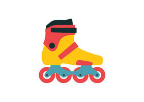 Roller Skate Free Flat Style Vector Icon by superawesomevectors