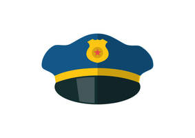 Police Hat Free Flat Style Vector Icon by superawesomevectors