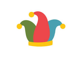 Clown Hat Flat Style Free Vector Illustration by superawesomevectors