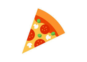 Slice of Pizza Free Flat Style Vector by superawesomevectors