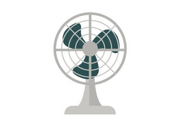 Electric Fan Free Flat Style Vector Illustration by superawesomevectors