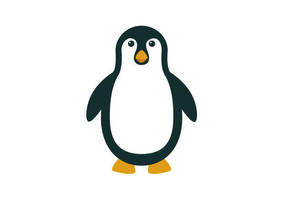 Flat Penguin by superawesomevectors