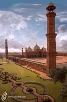The Badshahi Mosque by fahadee