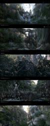 Effect diagram of storyboard  for Asura CG film by yangqi917