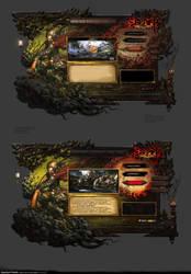 UI of the Asura Game by yangqi917