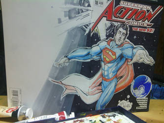 Action Comics 18 blank variant by physicdesigns