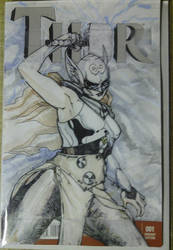 New Thor sketch cover by physicdesigns