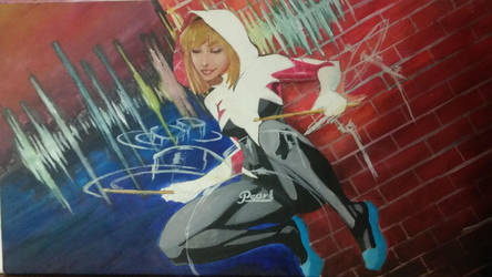 Spider-gwen live from nyc on sale by physicdesigns