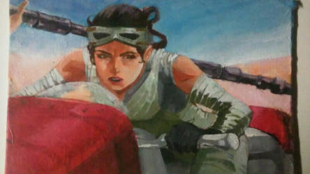 Art Auction: Star Wars Rey by physicdesigns