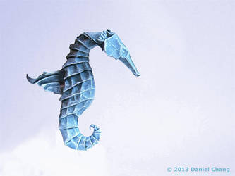 Winged Seahorse by mitanei