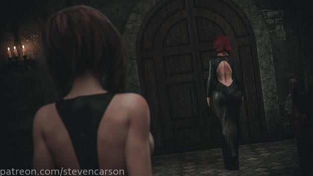 Triss Merigold at the meeting of Sorceress Lodge by StevenCarson