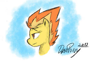 MLP: Spitfire (quick sketch) by DatPonyPL