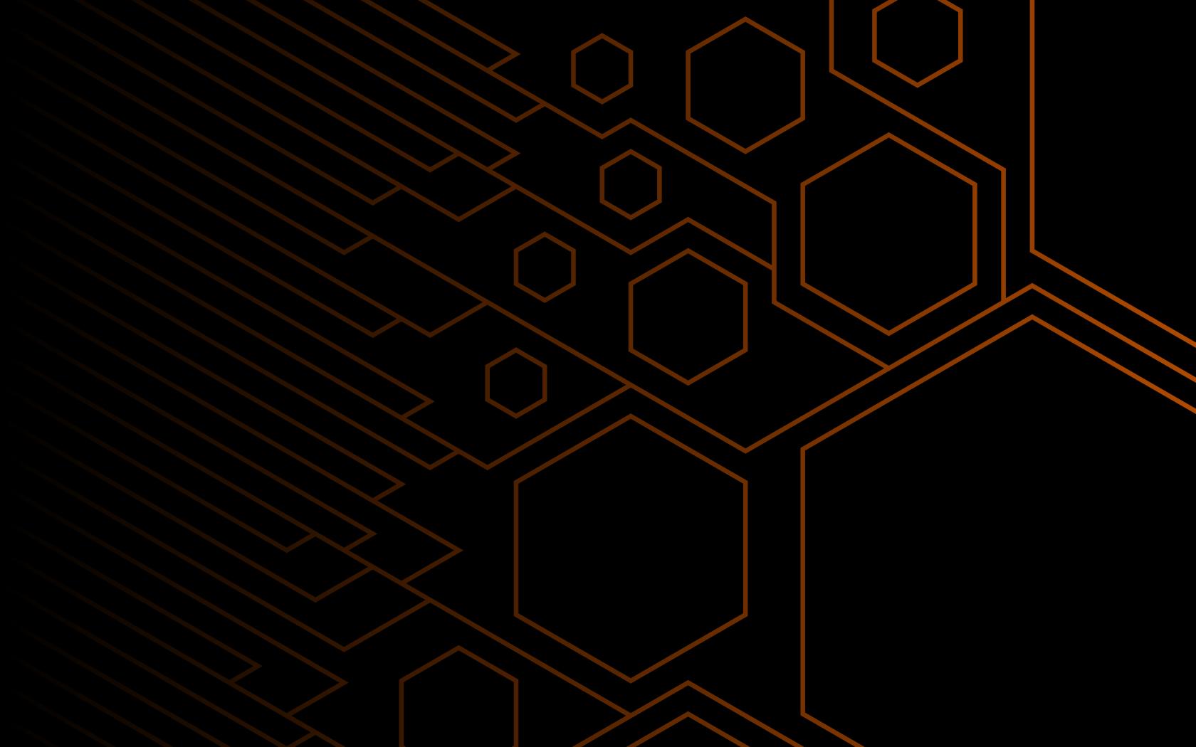 Orange Hexagons by flaming-tubesock