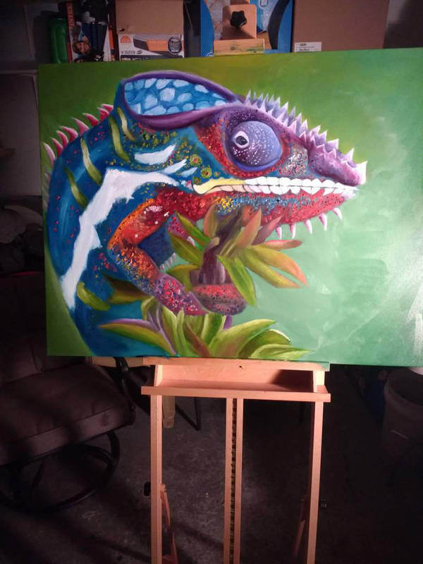 panther chameleon by randyjackson20