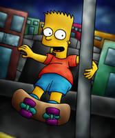 Skateboarding by iceiwynd