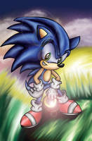 Prideful Sonic - Coloured by iceiwynd