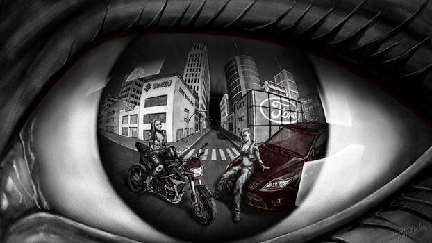 My vehicles on eye by Haerchen