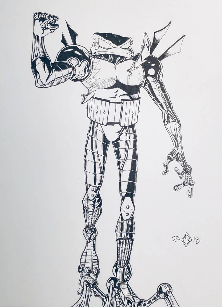 Cyberfrog  by bracecomix01
