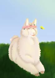 Llama sunshine by LumiDoge