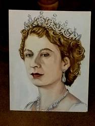 Queen Elizabeth II by kyleangelobenedetti