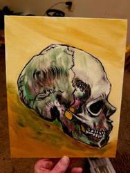 skull  by kyleangelobenedetti
