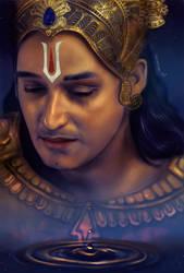 Crying Krishna by smirnova-al