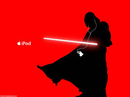 Darth Vader iPod ad by hitokirivader
