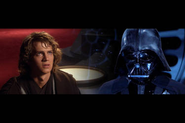 Anakin and Vader by hitokirivader