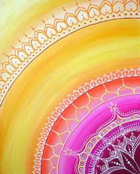 Sari Sun Painting by ChaoticatCreations