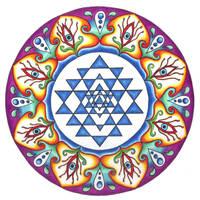Shri Yantra Mandala by ChaoticatCreations