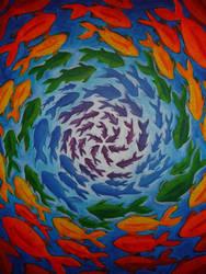 Rainbow Fishies by ChaoticatCreations